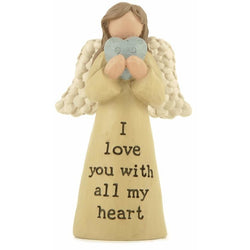 I love you with all my heart - Angel Ornament - giftpunk.com