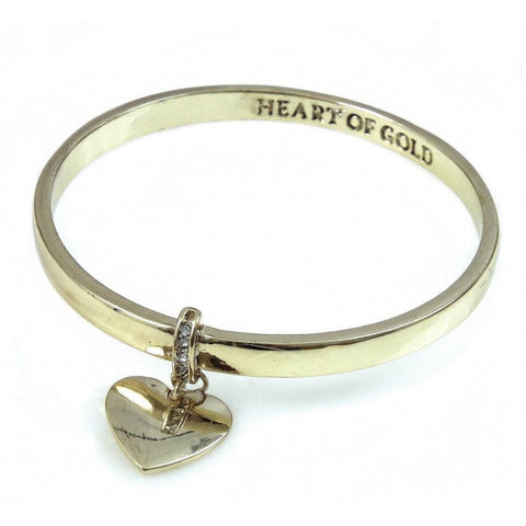 Heart of Gold - Gold Bangle - giftpunk.com