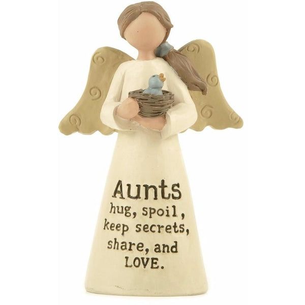 Aunts hug, spoil, keep secrets, share, and love - Angel Ornament - giftpunk.com