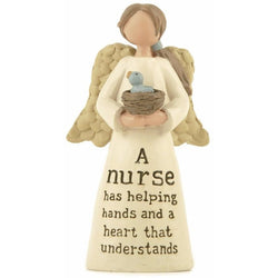 A nurse has helping hands and a heart that understands - Angel Ornament - giftpunk.com