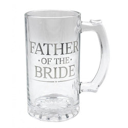 Father Of The Bride - Glass Tankard