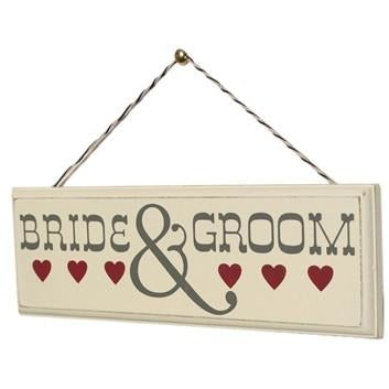 Bride & Groom - Wooden Sign | frames & wall art | Affordable gifts for him for her at giftpunk.com - FREE delivery