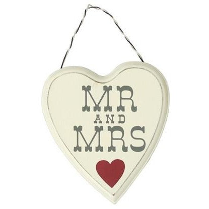 Mr and Mrs - Wooden Sign | frames & wall art | Affordable gifts for him for her at giftpunk.com - FREE delivery