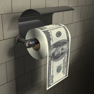 $100 Dollar Bill Toilet Roll