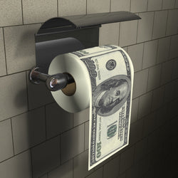 $100 Dollar Bill Toilet Roll - Officially Licensed | cosmetics | Affordable gifts for him for her at giftpunk.com - FREE delivery