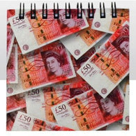Fifty Pound Note - Note Pad 9cm x 9cm