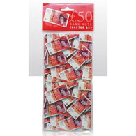 £50 Fifty Pound Note - 4 Piece Coaster Set | kitchenware | Affordable gifts for him for her at giftpunk.com - FREE delivery