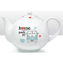 VW - Camper Van 'Home is where you park it!' Ceramic Teapot - giftpunk.com