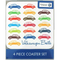 VW Volkswagen Beetle - 4 Piece Coaster Sets | kitchenware | Affordable gifts for him for her at giftpunk.com - FREE delivery