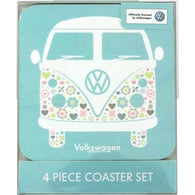VW Volkswagen Camper Van - 4 Piece Coaster Sets | kitchenware | Affordable gifts for him for her at giftpunk.com - FREE delivery