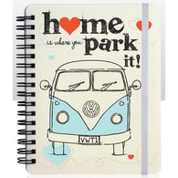 VW Volkswagen - Camper Van 'Home is where you park it!' Note Book A6 | stationary | Affordable gifts for him for her at giftpunk.com - FREE delivery