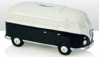 VW Volkswagen Camper Van - Ceramic Money Box - Black/White | money box | Affordable gifts for him for her giftpunk.com - FREE UK delivery