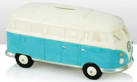 VW Volkswagen Camper Van - Ceramic Money Box - Light Blue/White | money box | Affordable gifts for him for her giftpunk.com - FREE UK delivery