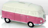 VW Volkswagen Camper Van - Ceramic Money Box - Pink/White | money box | Affordable gifts for him for her giftpunk.com - FREE UK delivery