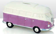VW Volkswagen Camper Van - Ceramic Money Box - Purple/White | money box | Affordable gifts for him for her giftpunk.com - FREE UK delivery