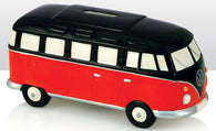 VW Volkswagen Camper Van - Ceramic Money Box - Red/Black | money box | Affordable gifts for him for her giftpunk.com - FREE UK delivery