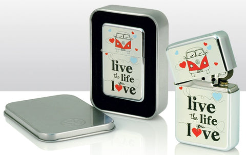 VW Volkswagen Camper Van - Live the life you love Windproof Lighter | smoking | Affordable gifts for him for her giftpunk.com - FREE UK delivery