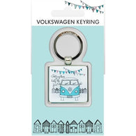 VW Volkswagen Camper Van - Epoxy Keyrings | accessory | Affordable gifts for him for her at giftpunk.com - FREE delivery