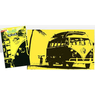 VW Volkswagen - Surf Silhouette Camper Van Tea Towel | kitchenware | Affordable gifts for him for her at giftpunk.com - FREE delivery