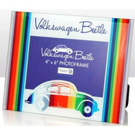 VW Volkswagen Beetle - Coloured Stripes Glass Photo Frame | frames & wall art | Affordable gifts for him for her at giftpunk.com - FREE delivery