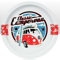 VW Volkswagen Camper Van - Classic Round Tin Tray | kitchenware | Affordable gifts for him for her at giftpunk.com - FREE delivery