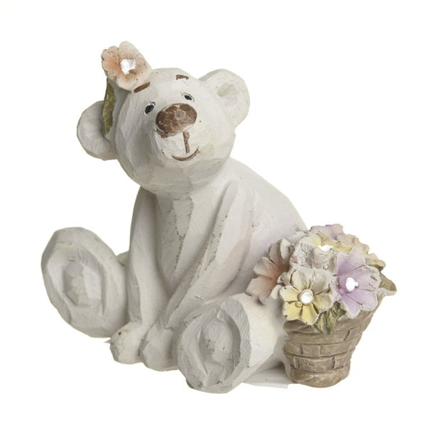 Bear Necessities - Fleur Bear Sitting With Flowers