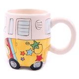 Camper Van Psychedelic Shaped Ceramic Mug | kitchenware | Affordable gifts for him for her giftpunk.com - FREE UK delivery
