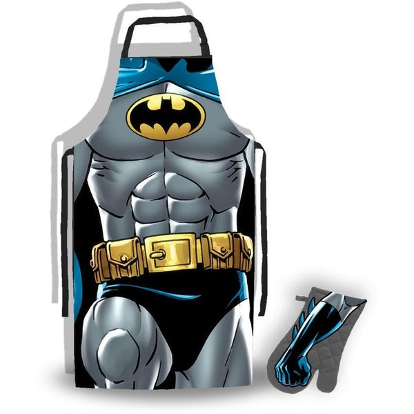 Batman - Apron & Oven Glove Set | kitchenware | Affordable gifts for him for her at giftpunk.com - FREE delivery