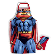 Superman - Apron & Oven Glove Set | kitchenware | Affordable gifts for him for her at giftpunk.com - FREE delivery