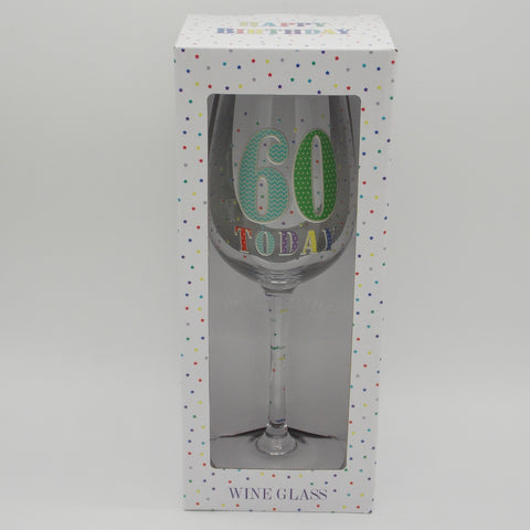 60 Today Wine Glass | kitchenware | Affordable gifts for him for her at giftpunk.com - FREE delivery
