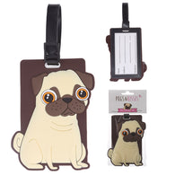 Pugs & Kisses - Luggage Tag | cosmetics | Affordable gifts for him for her at giftpunk.com - FREE delivery