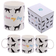 I Love My Dog - Bone China Mug | kitchenware | Affordable gifts for him for her at giftpunk.com - FREE delivery