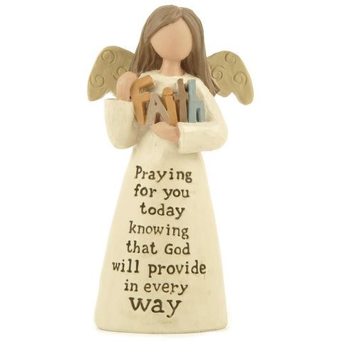 Faith, Praying for you... - Angel Ornament | collectables | Affordable gifts for him for her at giftpunk.com - FREE delivery
