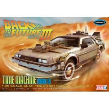 Polar Lights - Back to the Future III Time Machine - 1/25 Scale Model Kit | kitchenware | Affordable gifts for him for her at giftpunk.com - FREE delivery