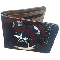 Captain America Canvas & Faux Leather Wallet | accessory | Affordable gifts for him for her at giftpunk.com - FREE delivery