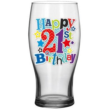 21st Beer Glass - Simon Elvin Keepsakes Collection | kitchenware | Affordable gifts for him for her at giftpunk.com - FREE delivery