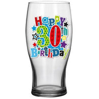 30th Beer Glass - Simon Elvin Keepsakes Collection | kitchenware | Affordable gifts for him for her at giftpunk.com - FREE delivery