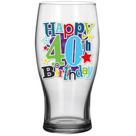 40th Beer Glass - Simon Elvin Keepsakes Collection | kitchenware | Affordable gifts for him for her at giftpunk.com - FREE delivery