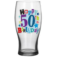 50th Beer Glass - Simon Elvin Keepsakes Collection | kitchenware | Affordable gifts for him for her at giftpunk.com - FREE delivery
