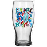 60th Beer Glass - Simon Elvin Keepsakes Collection | kitchenware | Affordable gifts for him for her at giftpunk.com - FREE delivery