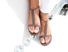 Sandals Dubai Wild lizard Brown