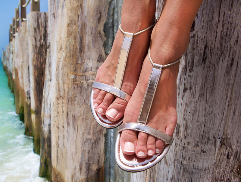 Sandals Metalic light gold by withmysands