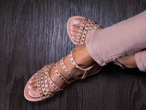 Rock Natural Stud Sandals