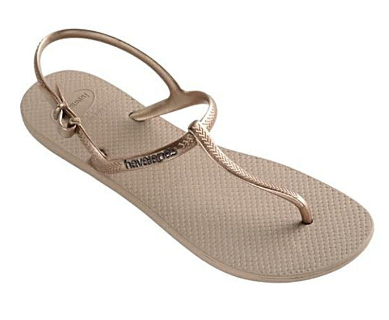 Havaianas Women`s Flip Flops Freedom Slim Sandal Rose Gold