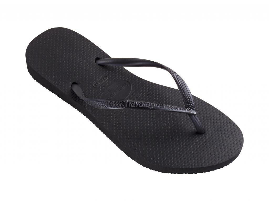 Havaianas Women`s Flip Flops Slim Style Sandals Black Sexy Sandals