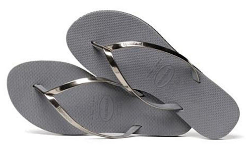 Havaianas Women`s Flip Flops You Metallic Sandals Steel Grey / Silver