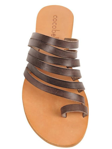 Cocobelle Women`s Sandals Palermo Italian Leather Sandal Smoke Leather Straps