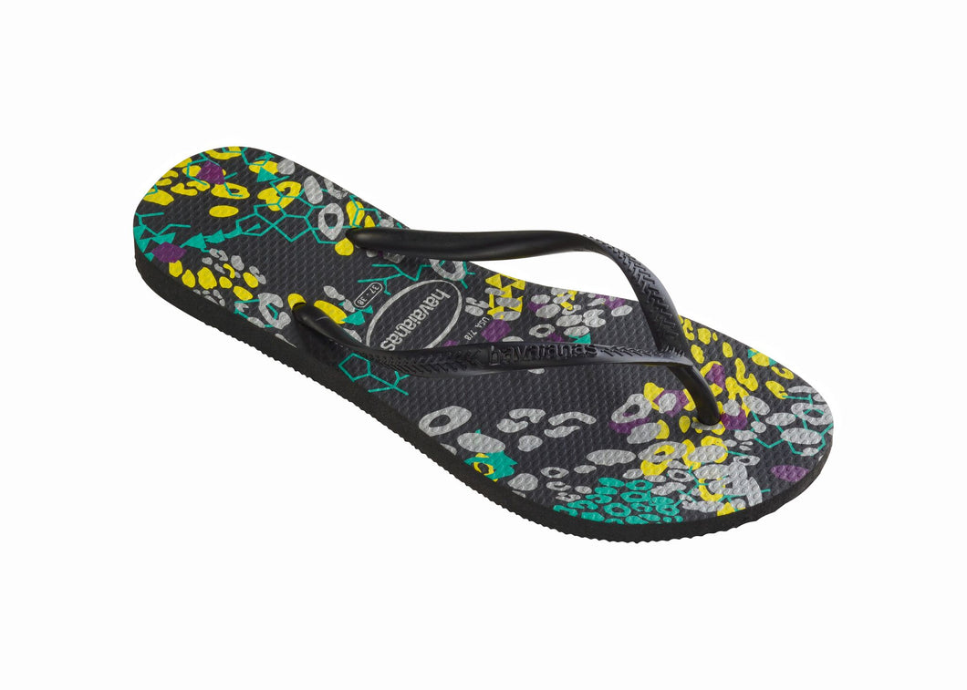 Havaianas Women`s Flip Flops Slim Abstract Sandal Black