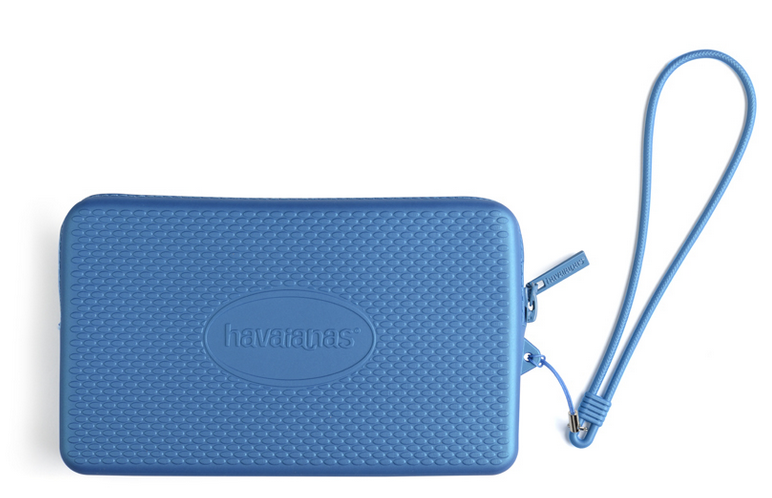 Havaianas Beach Mini Bag Water Resistant purse/phone case Metallic Blue