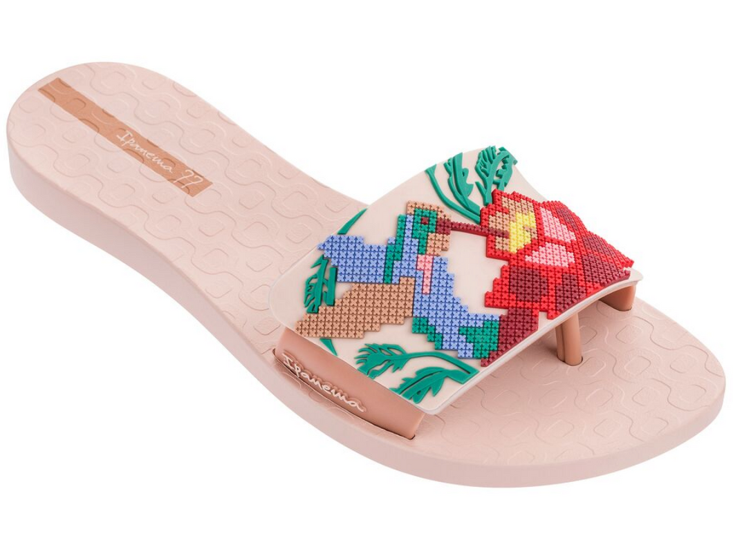 53e873a25f1 Ipanema Women`s Flip Flops Nectar Sandal Pink and Beige Slide Thong Sandals